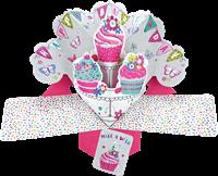 Εικόνα του Ευχετήριες Κάρτες Pop Ups - Cupcakes