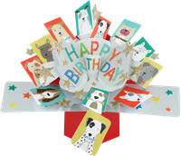 Picture of Pop Ups Greeting Cards - Dogs