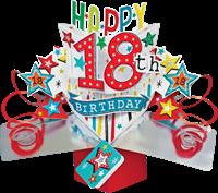 Εικόνα του Ευχετήριες Κάρτες Pop Ups - 18th Birthday (Stars)