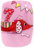 Picture of Eye Spy Greeting Cards - Age 7 Sausage Dog
