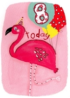 Picture of Eye Spy Greeting Cards - Age 8 Flamingo