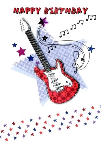 Yours truly greeting cards electric guitar scrapsnpieces picture of yours truly greeting cards electric guitar m4hsunfo