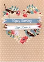 Εικόνα του Ευχετήριες Κάρτες Yours Truly - Birds on Heart