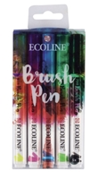 Picture of Royal Talens Ecoline Coloured Brush Pen - Set of 5