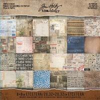 Picture of Tim Holtz  Idea-ology Paper Stash 8X8 - Etcetera