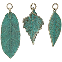 Picture of Tim Holtz Assemblage Charms - Patina Leaves