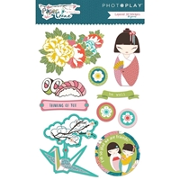 Picture of Paper Crane Layered Stickers