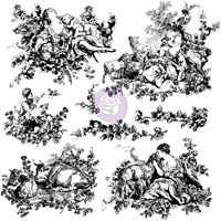 Picture of Iron Orchid Designs Decor Clear Stamps - Pastoral Toile