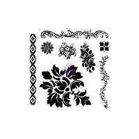 Picture of Iron Orchid Designs Decor Clear Stamps - Fleur