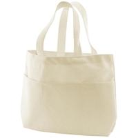 Εικόνα του Canvas Small Pocket Tote Bag - Υφασμάτινη Tσάντα