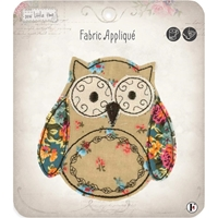 Picture of Fabric Editions Sew Little Time Sew-On Applique - Owl