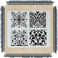 "Picture of Stampendous Cube Rubber Stamp 2.75""X2.75"" - Ornate Tiles Texture"