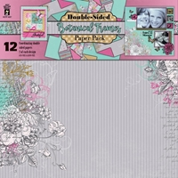 Picture of Hot off the Press Scrapbooking Paper Pack 12''X12'' - Botanical Frames