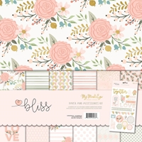"Εικόνα του My Mind's Eye Paper & Accessories Kit 12""X12"" - Bliss"
