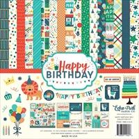 """Picture of Echo Park Collection Kit 12""""X12"""" - Happy Birthday Boy"""