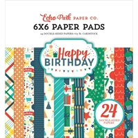 Picture of Echo Park Double Sided Paper Pad 6''X6'' - Happy Birthday Boy