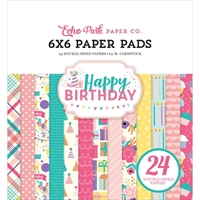 Picture of Echo Park Double Sided Paper Pad 6''X6'' - Happy Birthday Girl