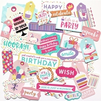 Εικόνα του Happy Birthday Girl Cardstock Die Cuts - Frames & Tags
