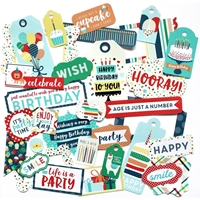 Εικόνα του Happy Birthday Boy Cardstock Die Cuts - Frames & Tags