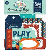 Εικόνα του Imagine That Boy Cardstock Die Cuts - Frames & Tags