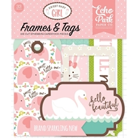 Εικόνα του Sweet Baby Girl Cardstock Die Cuts - Frames & Tags