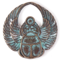 Picture of Steampunk Metal Pendant - Winged Scarab