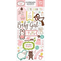 Εικόνα του Sweet Baby Girl Chipboard Accents