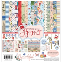 "Picture of Carta Bella Collection Kit 12""X12"" - Practically Perfect"