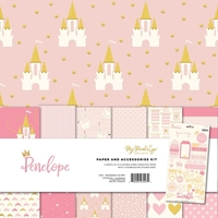 "Εικόνα του Mind's Eye Paper & Accessories Kit 12""X12"" - Penelope"
