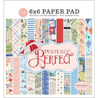 "Picture of Carta Bella Double-Sided Paper Pad 6""X6"" - Practically Perfect"