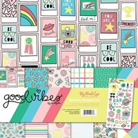 "Εικόνα του My Mind's Eye Paper & Accessories Kit 12""X12"" - Good Vibes"
