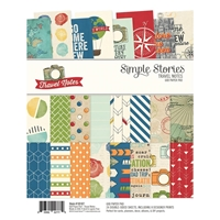 """Picture of Simple Stories Double-Sided Paper Pad 6""""X8""""  - Travel Notes"""