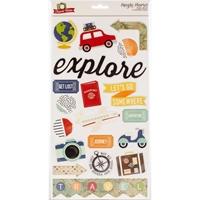 Εικόνα του Travel Notes Αυτοκόλλητα Chipboard