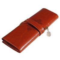 Picture of Leather Roll Up Pencil Case