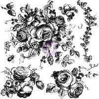 Picture of Iron Orchid Designs Decor Clear Stamps - Floral