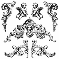 Picture of Iron Orchid Designs Decor Clear Stamps - Trompel'oeil 2