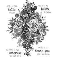Picture of Tim Holtz Cling Stamps - Glorious Bouquet