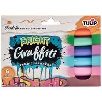Εικόνα του Tulip Graffiti Μαρκαδόροι για Ύφασμα - Brights