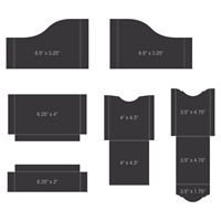 Picture of Heartfelt Creations Pocket & Flipfold Inserts A-Black