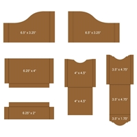 Εικόνα του Heartfelt Creations Pocket & Flipfold Inserts A-Kraft