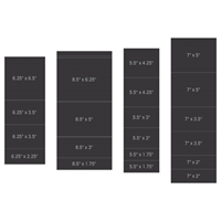 Εικόνα του Heartfelt Creations Pocket & Flipfold Inserts B-Black
