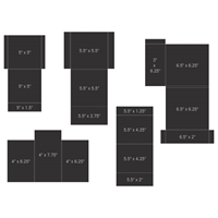 Εικόνα του Heartfelt Creations Pocket & Flipfold Inserts C-Black