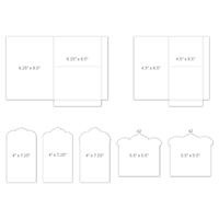 Εικόνα του Heartfelt Creations Pocket & Flipfold Inserts F-White