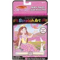 Εικόνα του Melissa & Doug On The Go Scratch Art Color Reveal Pads - Fairy Tales