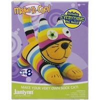 Picture of Janlynn Sock Animal Kit - Claire the Cat