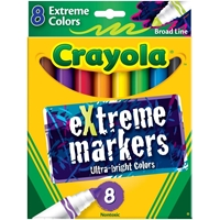 Εικόνα του Crayola Broad Line Washable Markers - Extreme Colors