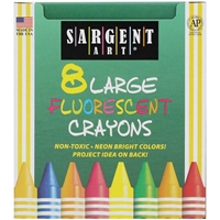 Picture of Sargent Art Large Fluorescent Crayons