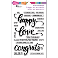 Picture of Stampendous Perfectly Clear Stamps - Big Words Happy