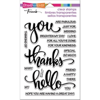 Picture of Stampendous Perfectly Clear Stamps - Big Words Thanks