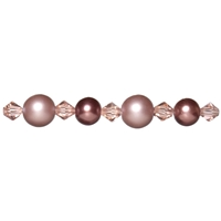 Εικόνα του Jewelry Basics Pearl & Crystal Bead Mix - Pink & Bronze Round